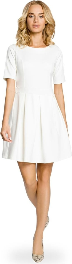 Sukienka MOE rozkloszowana mini z krótkim rękawem