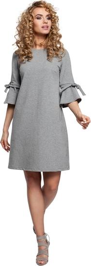 Sukienka MOE trapezowa z okrągłym dekoltem mini