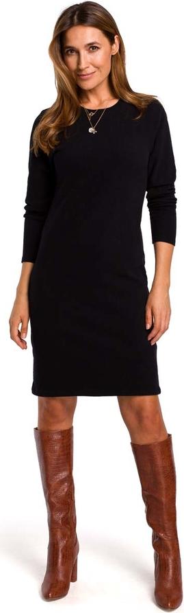 Sukienka MOE w stylu casual z bawełny z okrągłym dekoltem