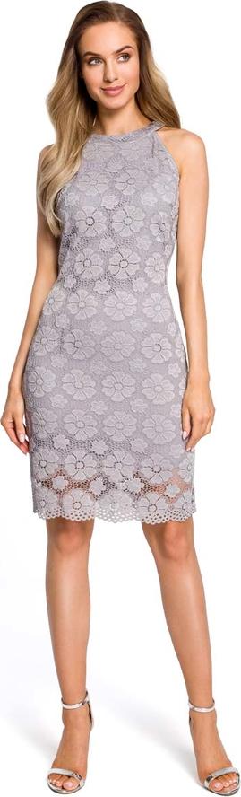Sukienka MOE z dekoltem halter midi