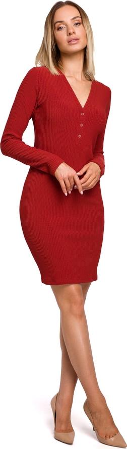 Sukienka MOE z dekoltem w kształcie litery v dopasowana