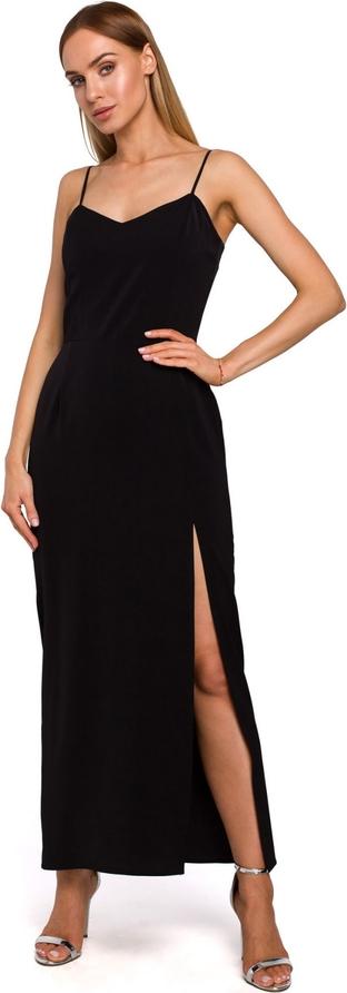 Sukienka MOE z dekoltem w kształcie litery v z tkaniny maxi