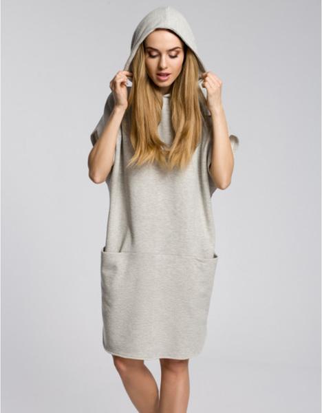 Sukienka MOE z długim rękawem mini