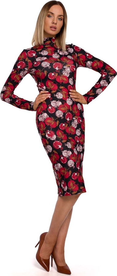 Sukienka MOE z długim rękawem ołówkowa