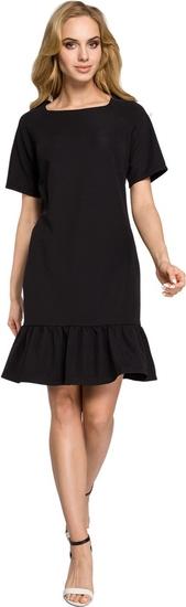 Sukienka MOE z krótkim rękawem mini z okrągłym dekoltem