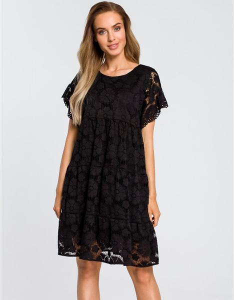 Sukienka MOE z krótkim rękawem z okrągłym dekoltem mini