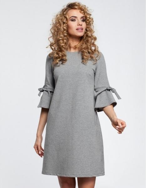 Sukienka MOE z okrągłym dekoltem mini trapezowa