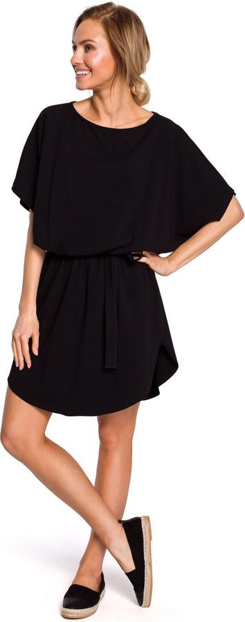 Sukienka MOE z okrągłym dekoltem z krótkim rękawem mini