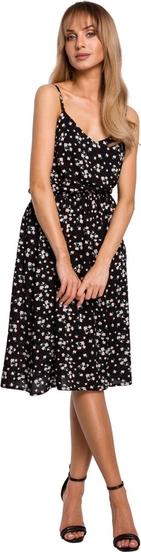 Sukienka MOE z tkaniny na ramiączkach
