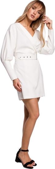 Sukienka MOE z tkaniny z długim rękawem