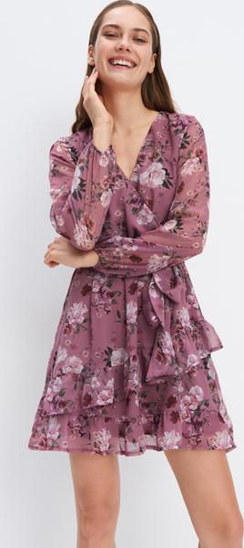 Sukienka Mohito w stylu boho mini kopertowa