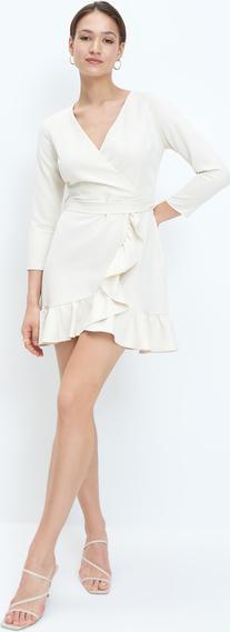 Sukienka Mohito z długim rękawem z dekoltem w kształcie litery v