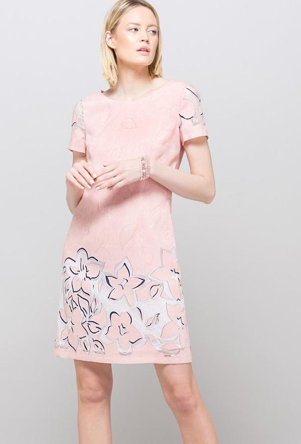 Sukienka Monnari z krótkim rękawem z okrągłym dekoltem mini