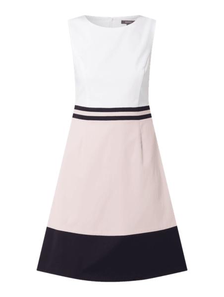 Sukienka Montego z bawełny bez rękawów z okrągłym dekoltem