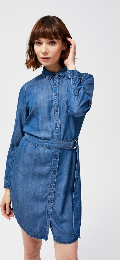 Sukienka Moodo mini w stylu casual z jeansu