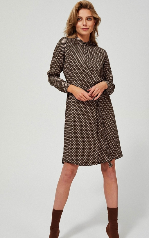 Sukienka Moodo z długim rękawem szmizjerka
