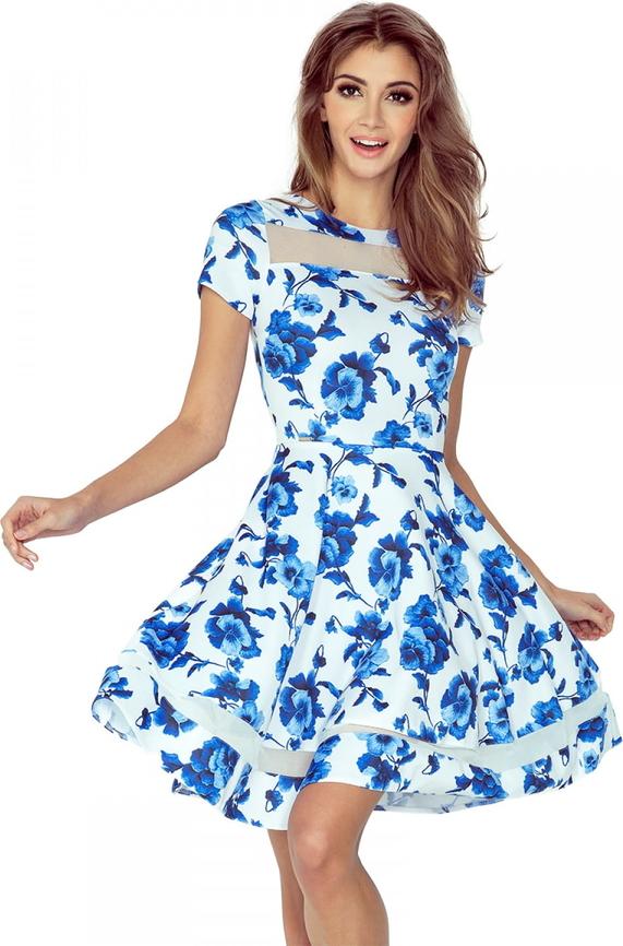 Sukienka MORIMIA z tiulu z krótkim rękawem