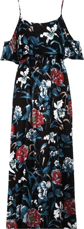 Sukienka Multu na ramiączkach w stylu boho z dekoltem w kształcie litery v