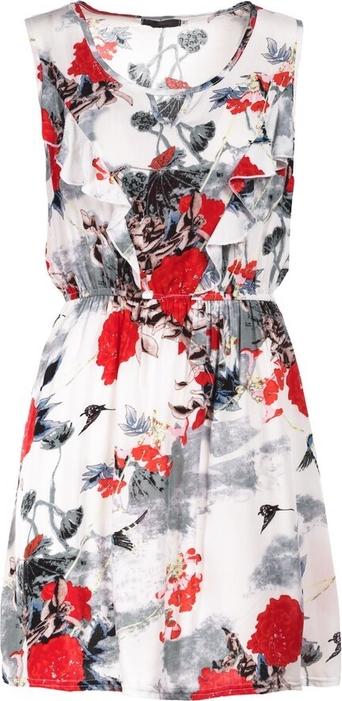 Sukienka Multu z dekoltem w kształcie litery v mini bez rękawów
