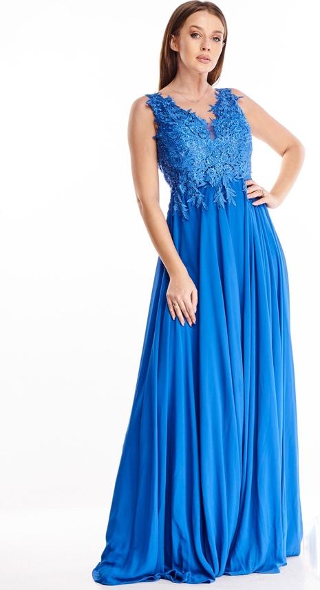 Sukienka N/A maxi z dekoltem w kształcie litery v rozkloszowana