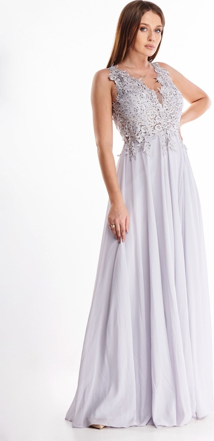 Sukienka N/A rozkloszowana z dekoltem w kształcie litery v maxi