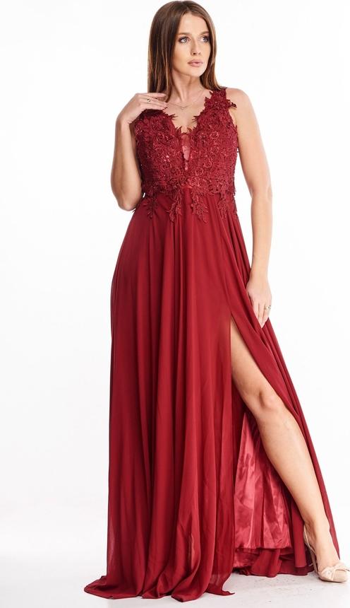 Sukienka N/A z dekoltem w kształcie litery v bez rękawów maxi