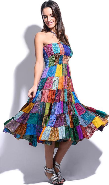 Sukienka Namaste rozkloszowana