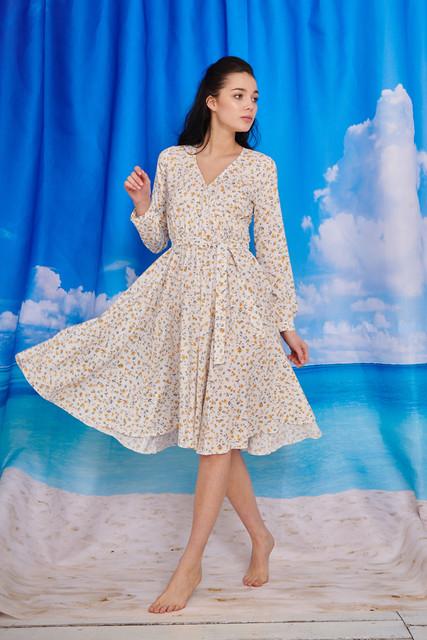 Sukienka Naoko rozkloszowana w stylu boho midi