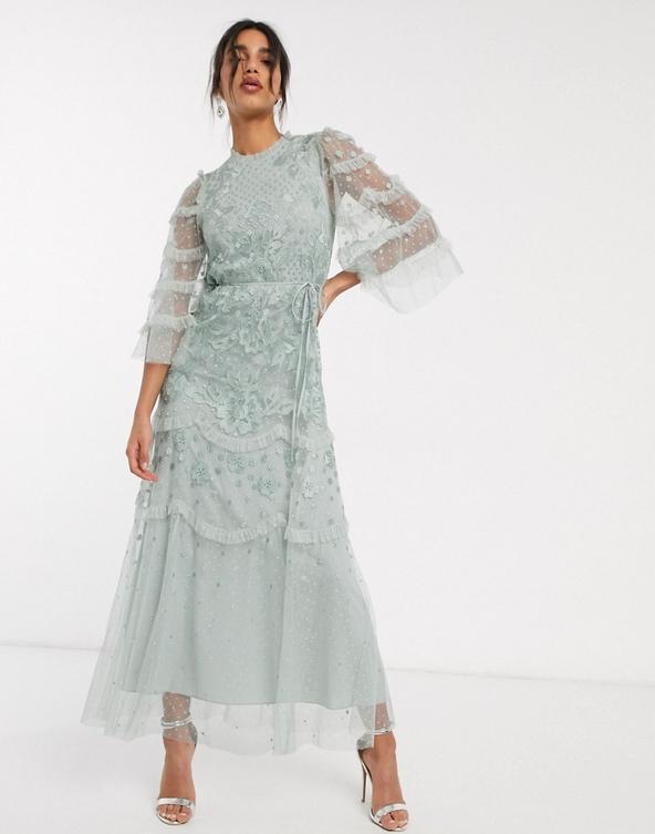 Sukienka Needle & Thread z żakardu