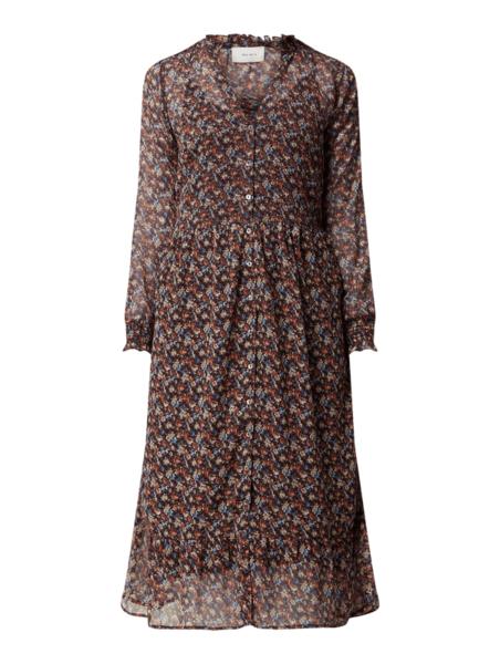Sukienka Neo Noir midi z długim rękawem w stylu casual