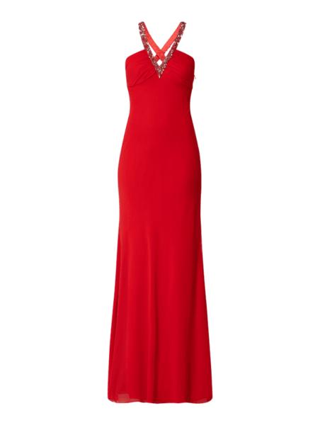 Sukienka Niente bez rękawów z dekoltem w kształcie litery v maxi