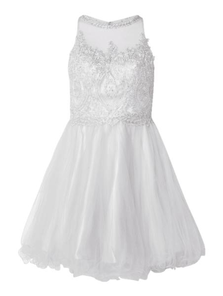 Sukienka Niente mini z okrągłym dekoltem rozkloszowana