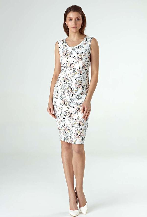 Sukienka Nife bez rękawów w stylu casual midi