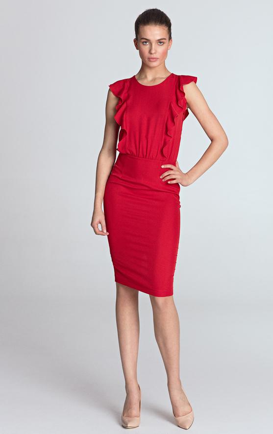 Sukienka Nife midi dopasowana