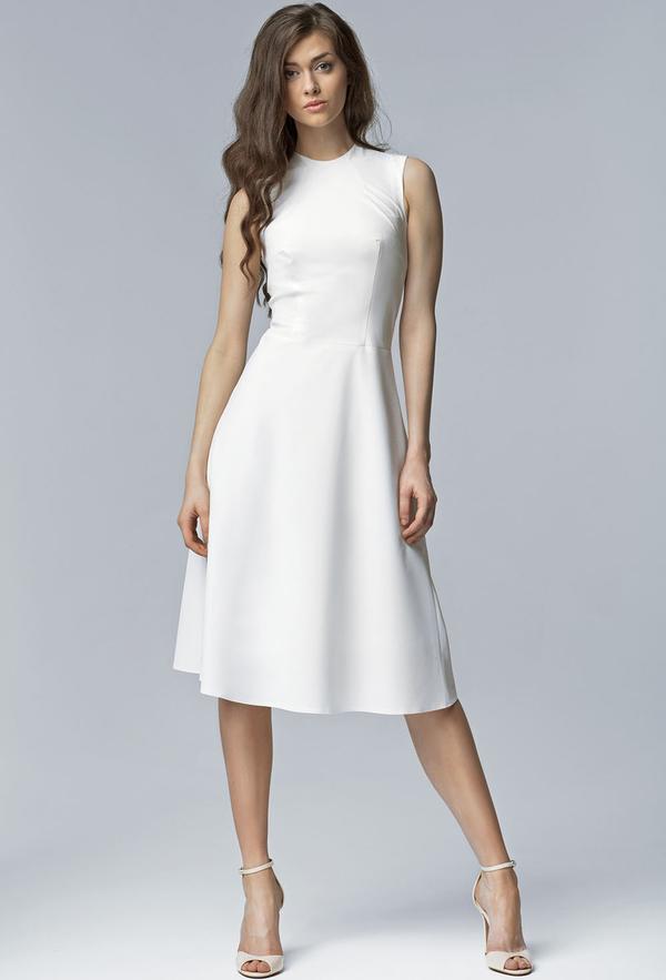Sukienka Nife midi z okrągłym dekoltem