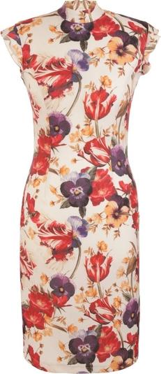 Sukienka Nife z dekoltem w kształcie litery v ołówkowa mini
