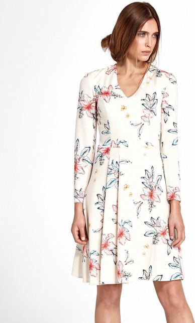 Sukienka Nife z długim rękawem w stylu casual