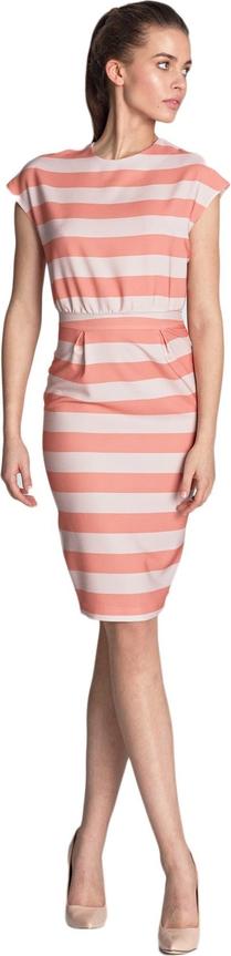 Sukienka Nife z okrągłym dekoltem ołówkowa