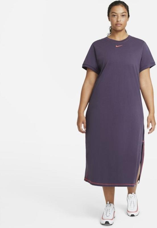 Sukienka Nike maxi z krótkim rękawem