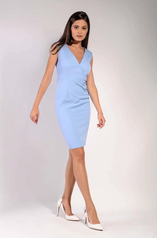 Sukienka Nommo dopasowana bez rękawów mini