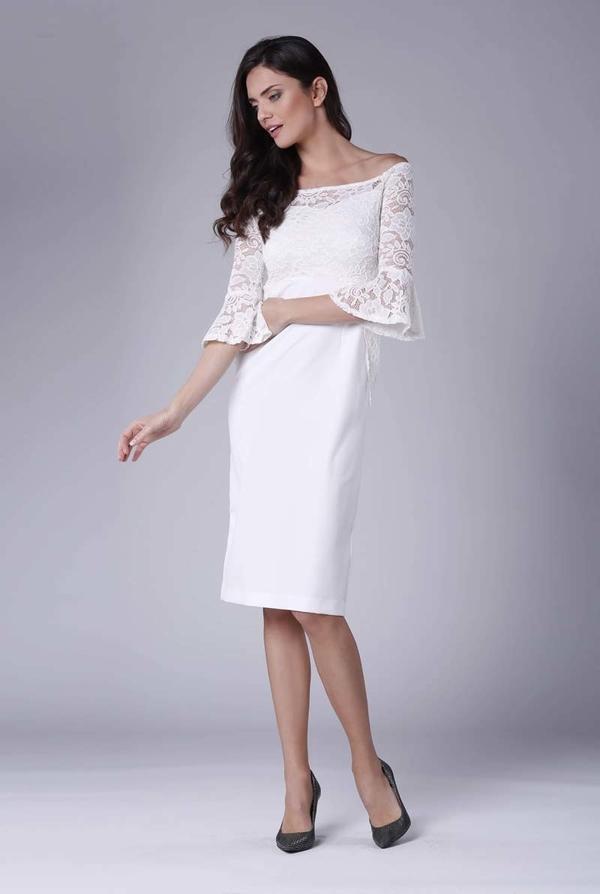 Sukienka Nommo midi dopasowana