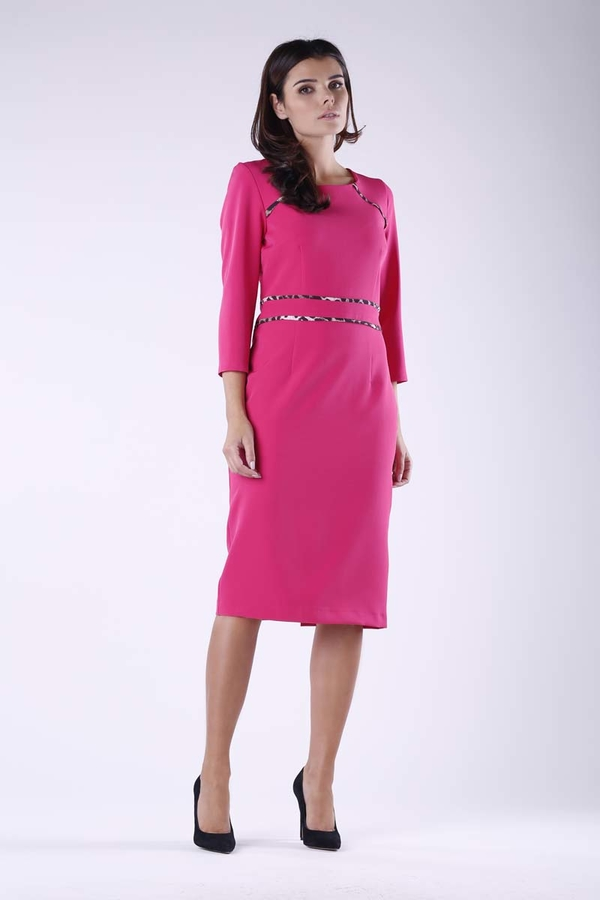 Sukienka Nommo midi ołówkowa z długim rękawem