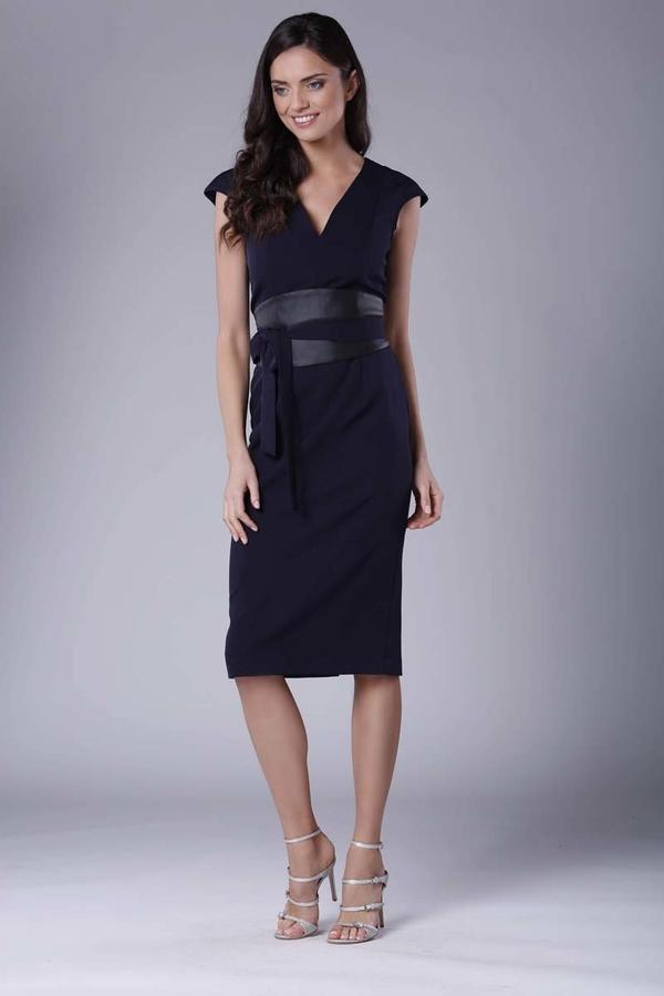 Sukienka Nommo midi z krótkim rękawem