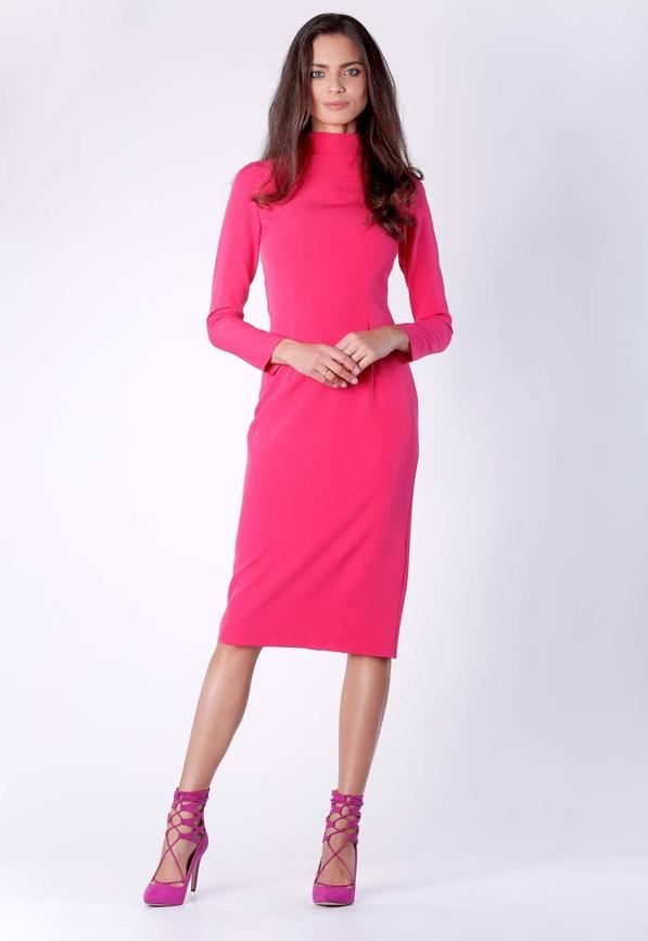 Sukienka Nommo w stylu casual midi z długim rękawem