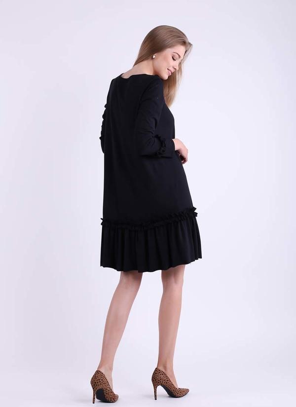 Sukienka Nommo z bawełny oversize z długim rękawem