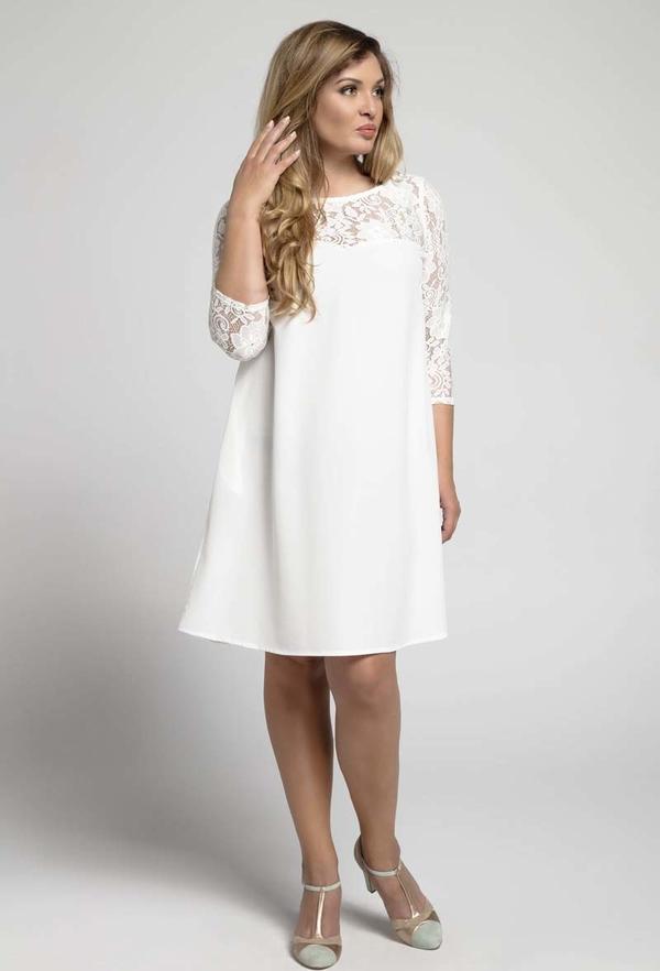 Sukienka Nommo z długim rękawem mini dla puszystych