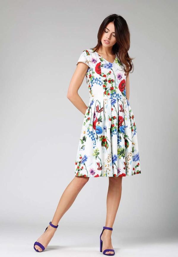 Sukienka Nommo z krótkim rękawem midi