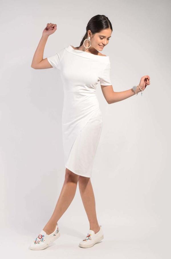 Sukienka Nommo z krótkim rękawem z bawełny
