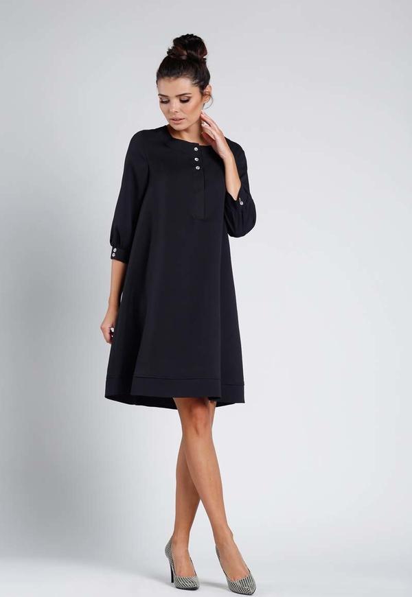 Sukienka Nommo z okrągłym dekoltem oversize z długim rękawem