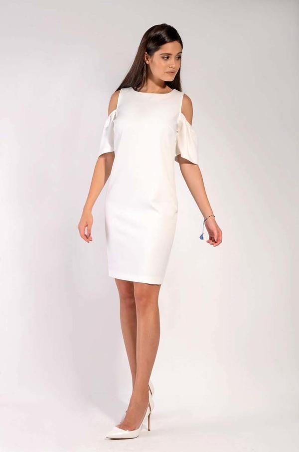 Sukienka Nommo z okrągłym dekoltem z krótkim rękawem mini